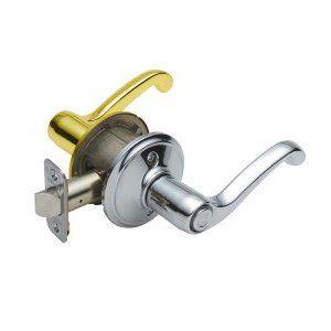 Schlage-Flair-F40-FLA-605-RH-Bright-Brass-Privacy-Set-Right-Hand  Schlage-Flair