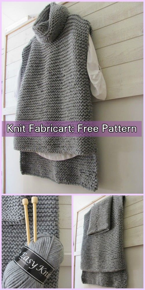 Easy Knit Women Sweater Vest Free Knitting Pattern | Knit patterns ...