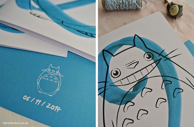 Totoro Birthday Card For A Little Fan Illustrations Pinterest