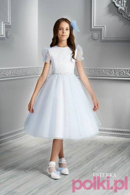 Krotkie Sukienki Komunijne Komunia Moda Comunion Dress Dresses Tulle Skirt