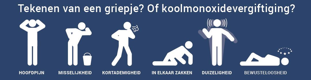 Dit zijn de #symptomen van #koolmonoxide.  Ken jij ze? #koolmonoxidemeldersreddenlevens
