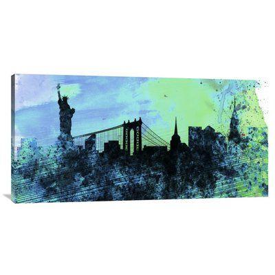 "Naxart 'New York City Skyline' Graphic Art on Wrapped Canvas Size: 18"" H x 36"" W x 1.5"" D"