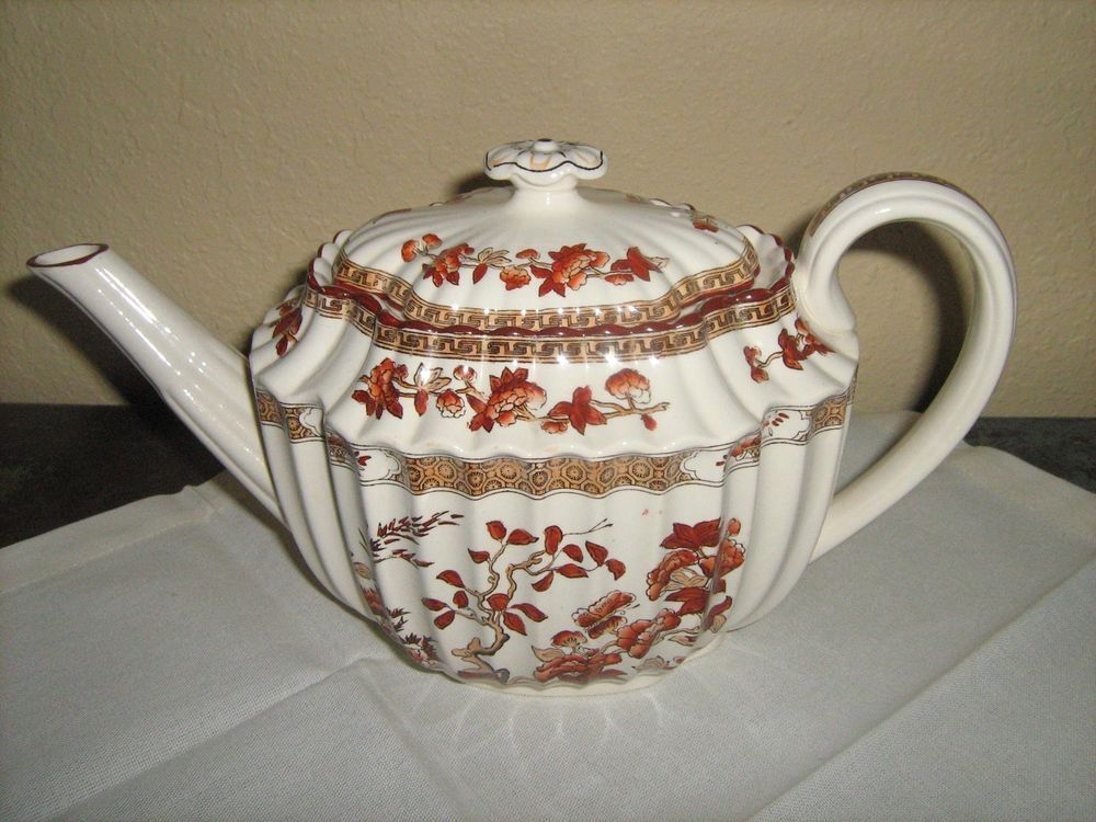 Copeland Spode India Indian Tree TEAPOT & LID in perfect