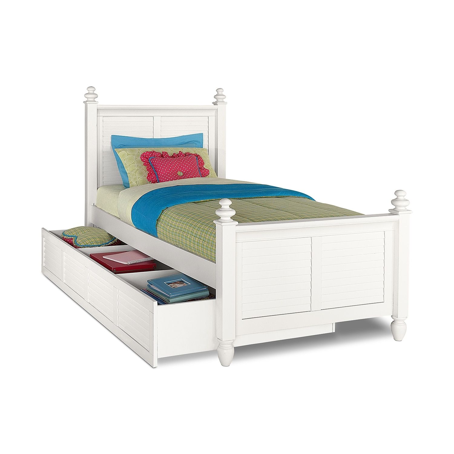 seaside full bed with trundle white products