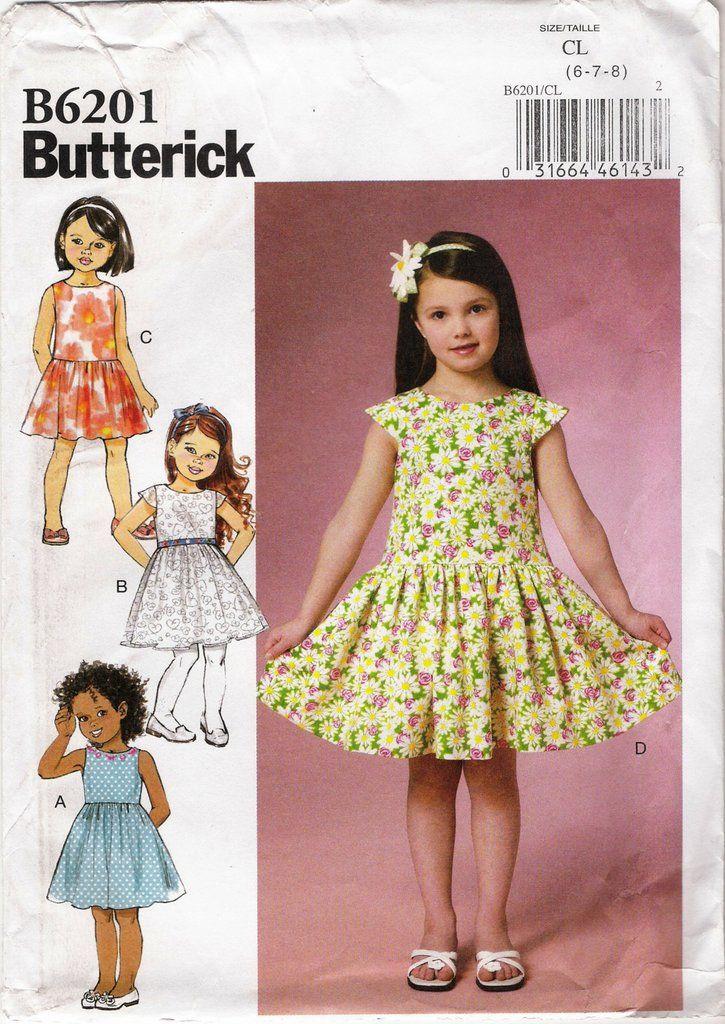 Butterick 6201 Children\'s/Girls\' Dress | Pinterest