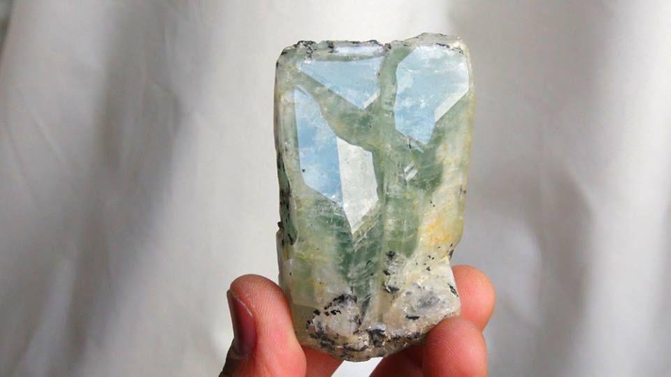 from Minas Gerias, BRAZIL. Rare terminations from a single beryl