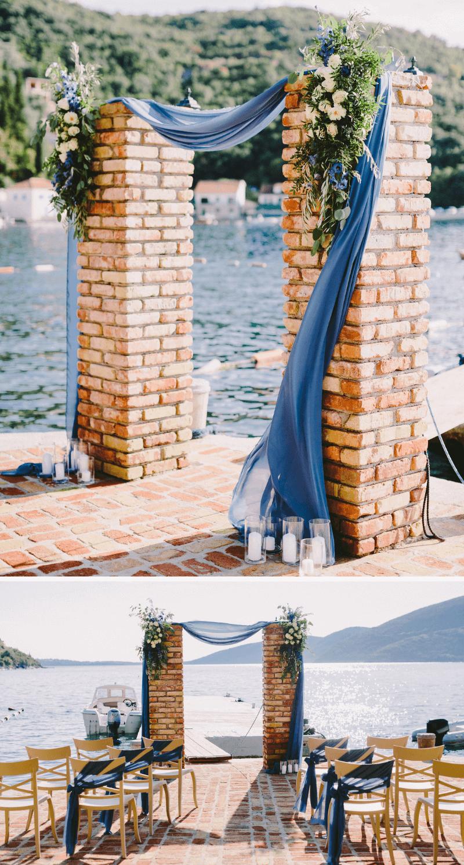 30 inspirierende Ideen für eine Hochzeit in Dunkelblau   Bogen hochzeit, Blau und Dunkelblau