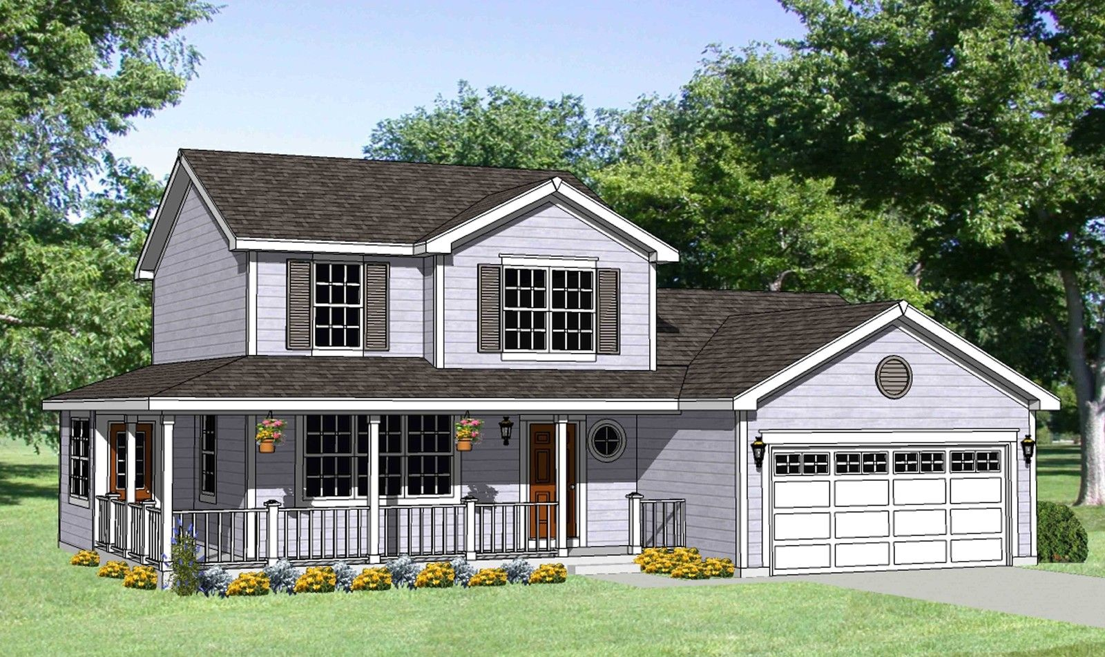 Plan 12729MA Country House Plan with WrapAround Porch