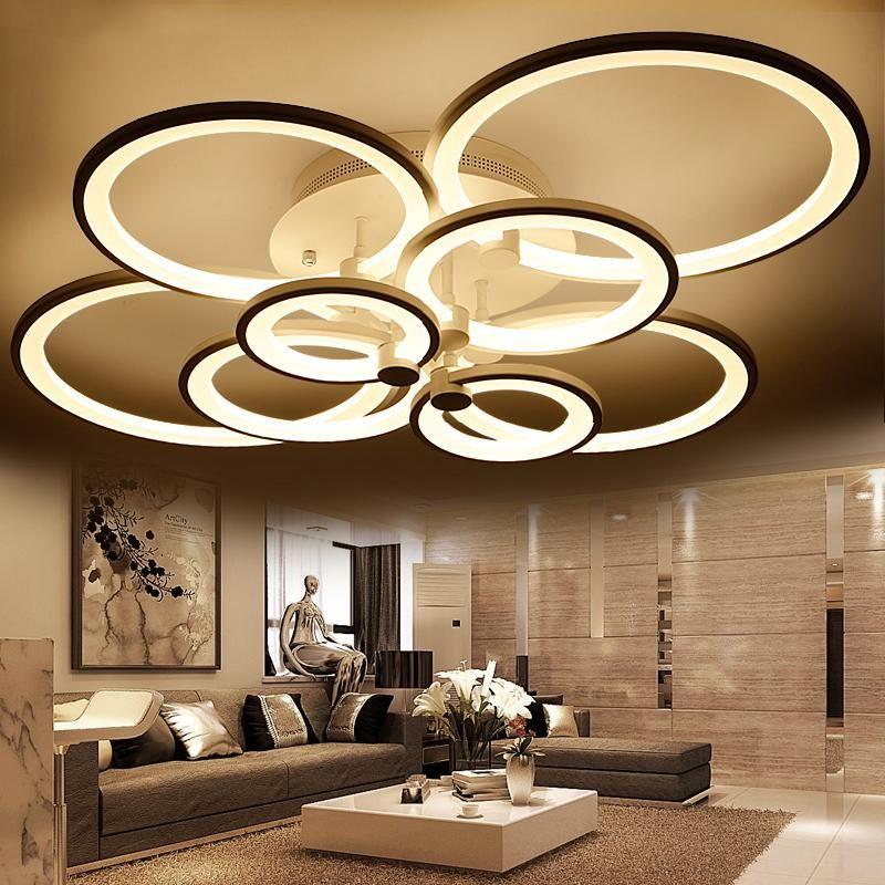 LED Circle Modern Chandelier \u2013 Indoorama Chandeliers  Lighting