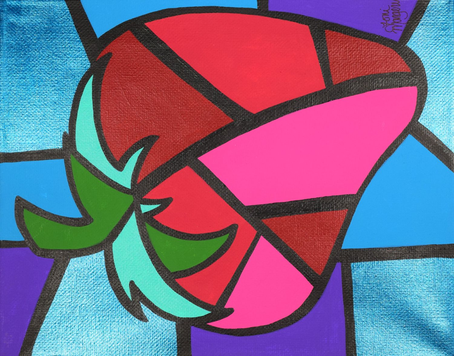 Picasso Strawberry Cubism Paintings