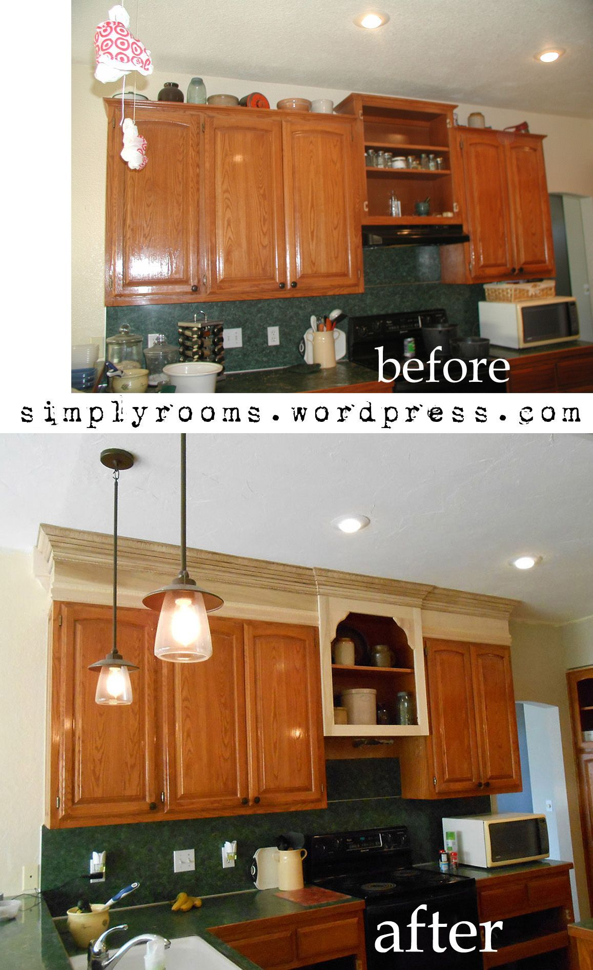 Make Kitchen Cabinets Look Taller In 2020 Kitchen Cabinet Remodel Kitchen Cabinets To Ceiling Kitchen Remodeling Projects