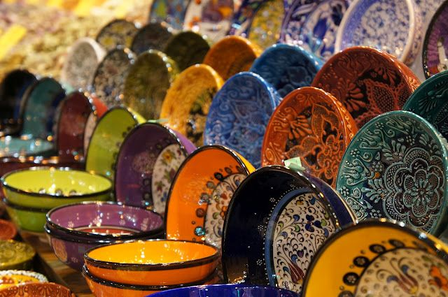 Colorful bowls and plates, #bowl, #colorful