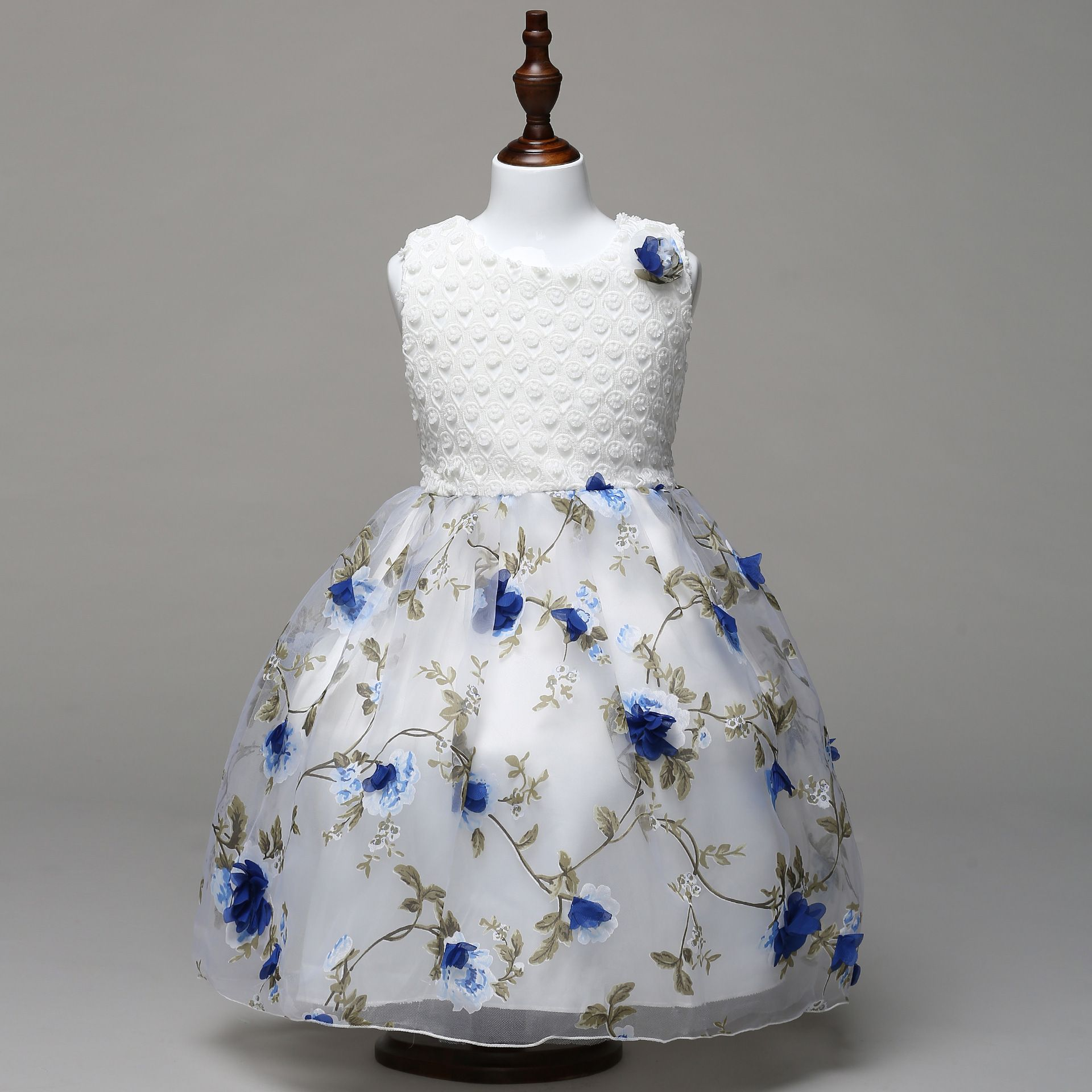 Luxury Baby Flower Girl Dresses Children Clothes Infant Floral Party