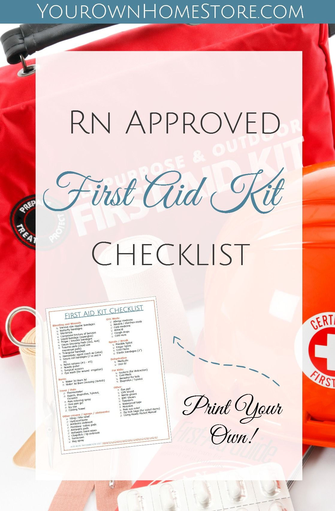 A Printable RN (and mom) Approved First Aid Kit Checklist