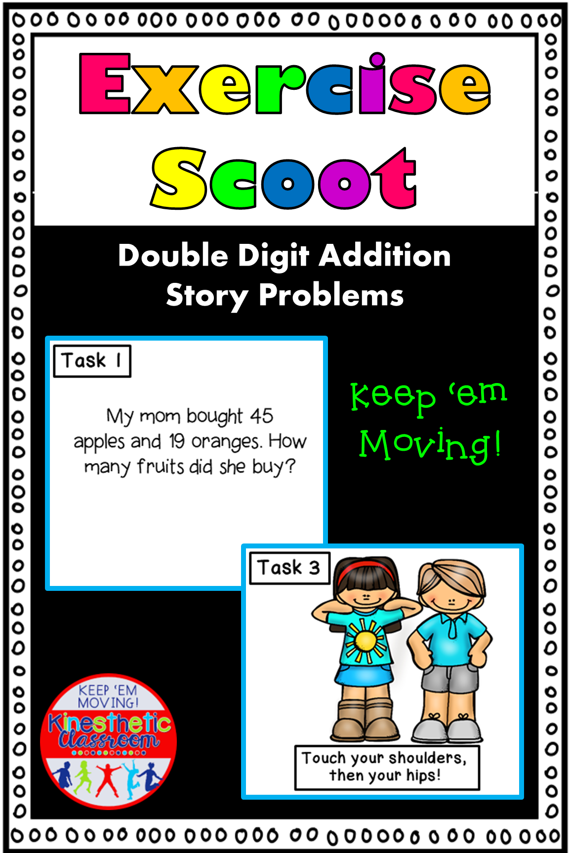Double Digit Addition Story Problems Math Task Cards