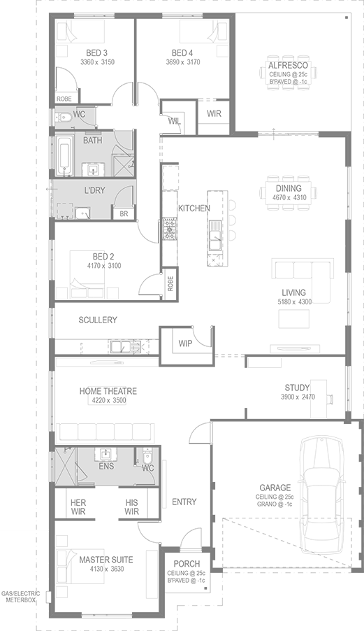 vector house and land package floorplan by go homes house plans in rh pinterest com