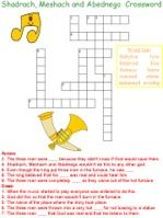 Crosswords - Fiery Furnace puzzle (Shadrach, Meshach and ...