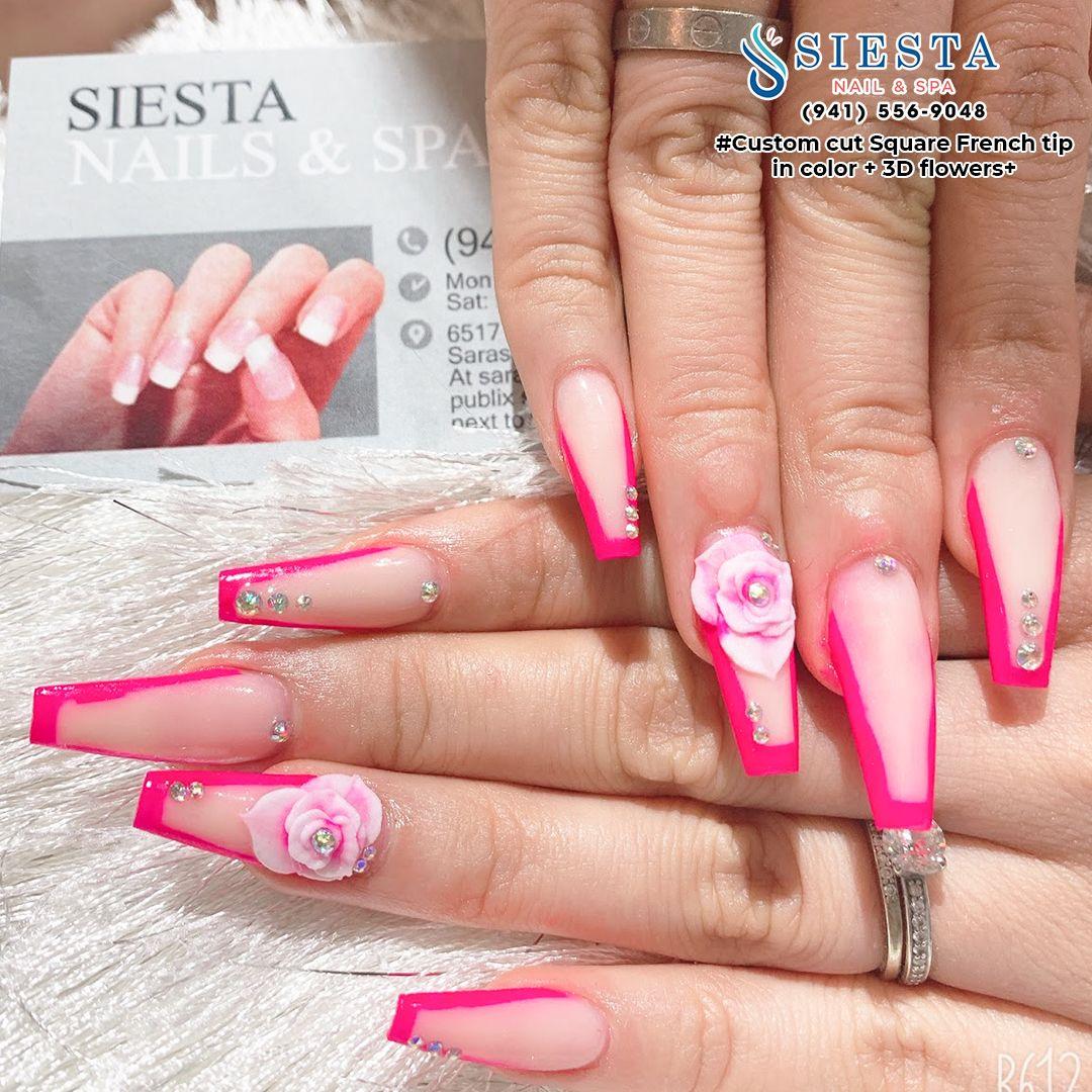 Siesta Nails And Spa Nails Salon In Sarasota Florida 34231 Nail Spa Manicure Nails