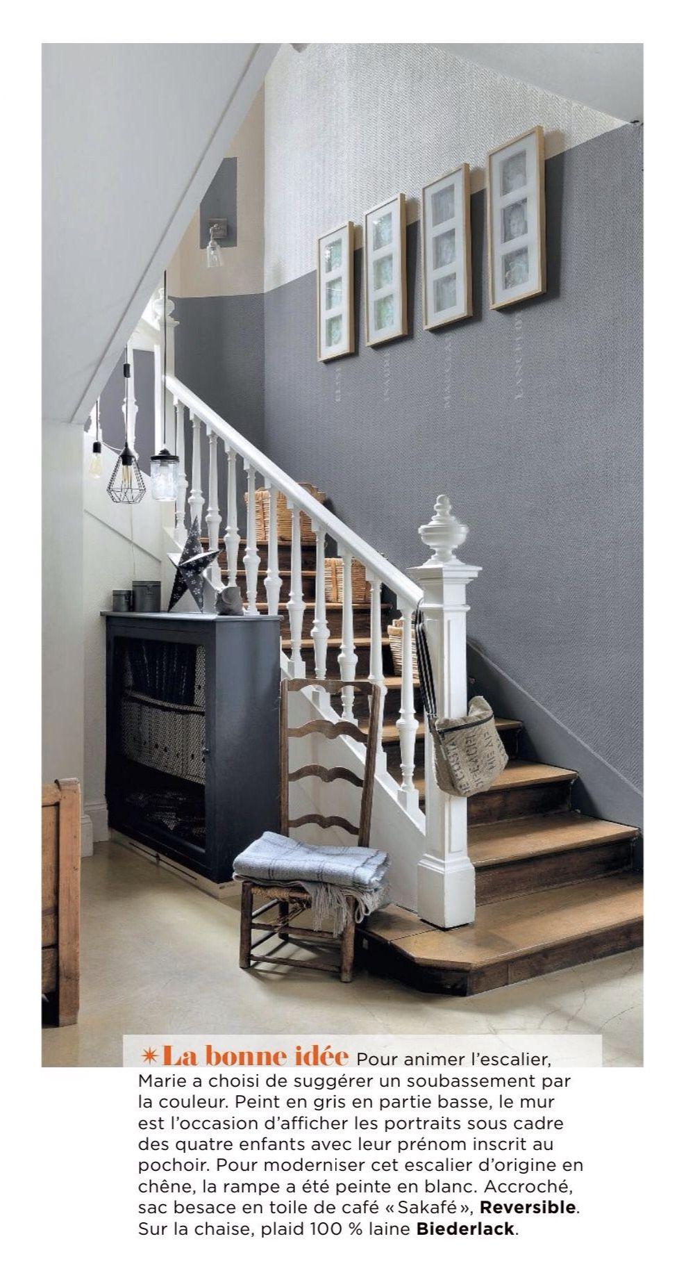 Quelle Couleur Pour Une Cage D Escalier trop belle idée pour notre entrée (cage d'escalier bicolore)