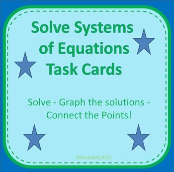 Systems of Linear Equations Review Activity | Equation, Activities ...