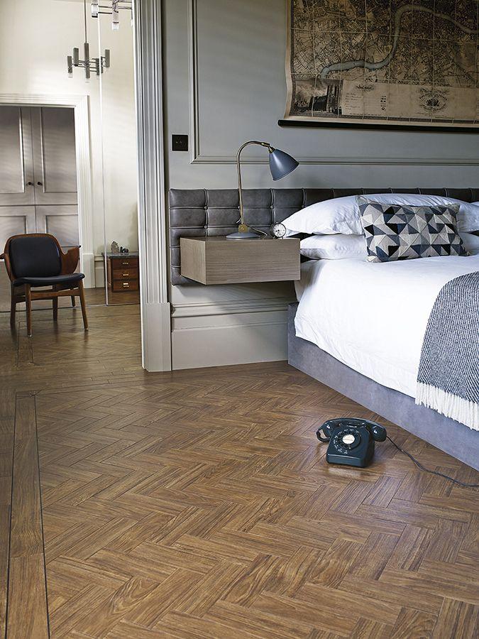 A handsome parquet style LVT floor from www.michaeljohn