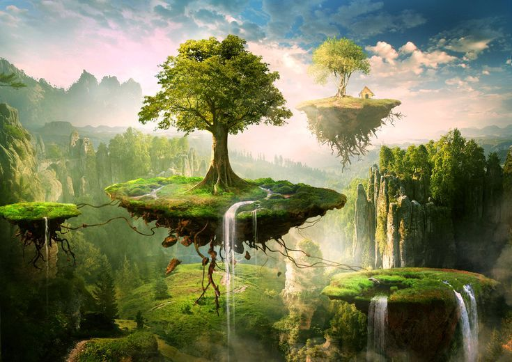 Floating islands by on