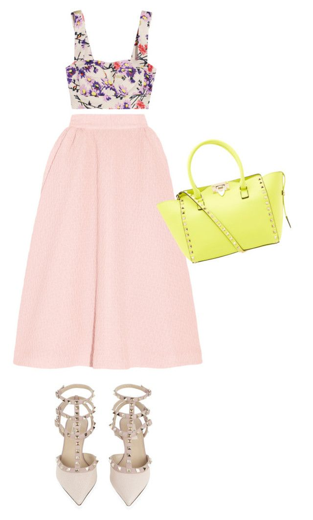 """Rock Pink"" by fattie-zara ❤ liked on Polyvore featuring Jill Stuart, Emilia Wickstead and Valentino"