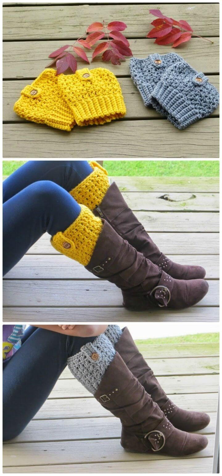 Crochet Boot Cuffs #bootcuffs