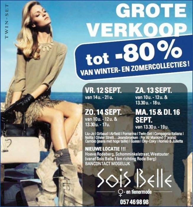 Stockverkoop Sois Belle -- Westouter -- 16/09-12/09