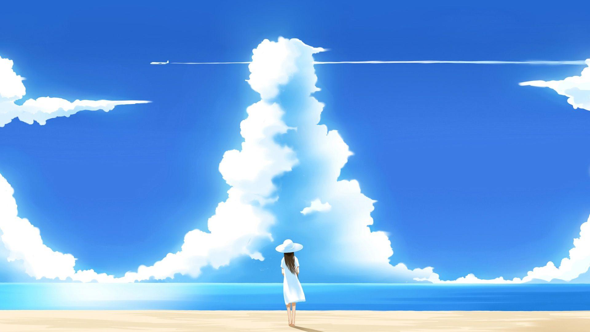 Blue Sky And Sea Wallpaper Summer Background 3 Pinterest