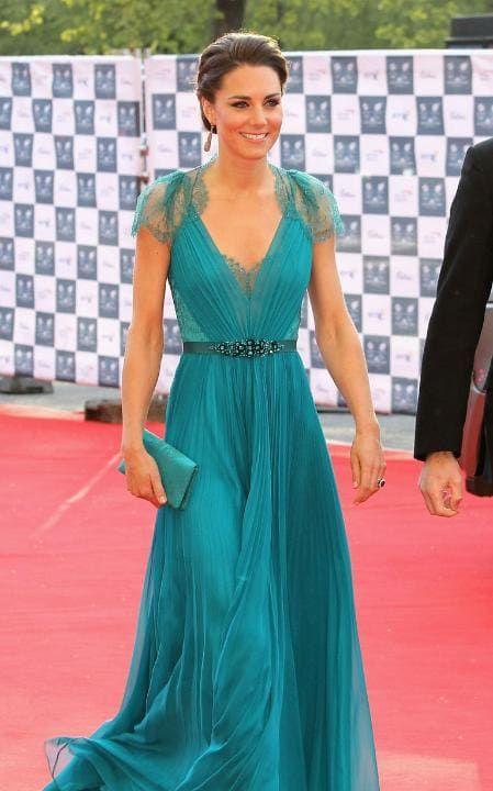 Kate Middleton at Royal Albert Hall in Jenny Packham | Life\'s too ...