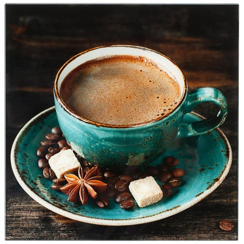 Картина на стекле 30х30 см «Чашка кофе» instafood
