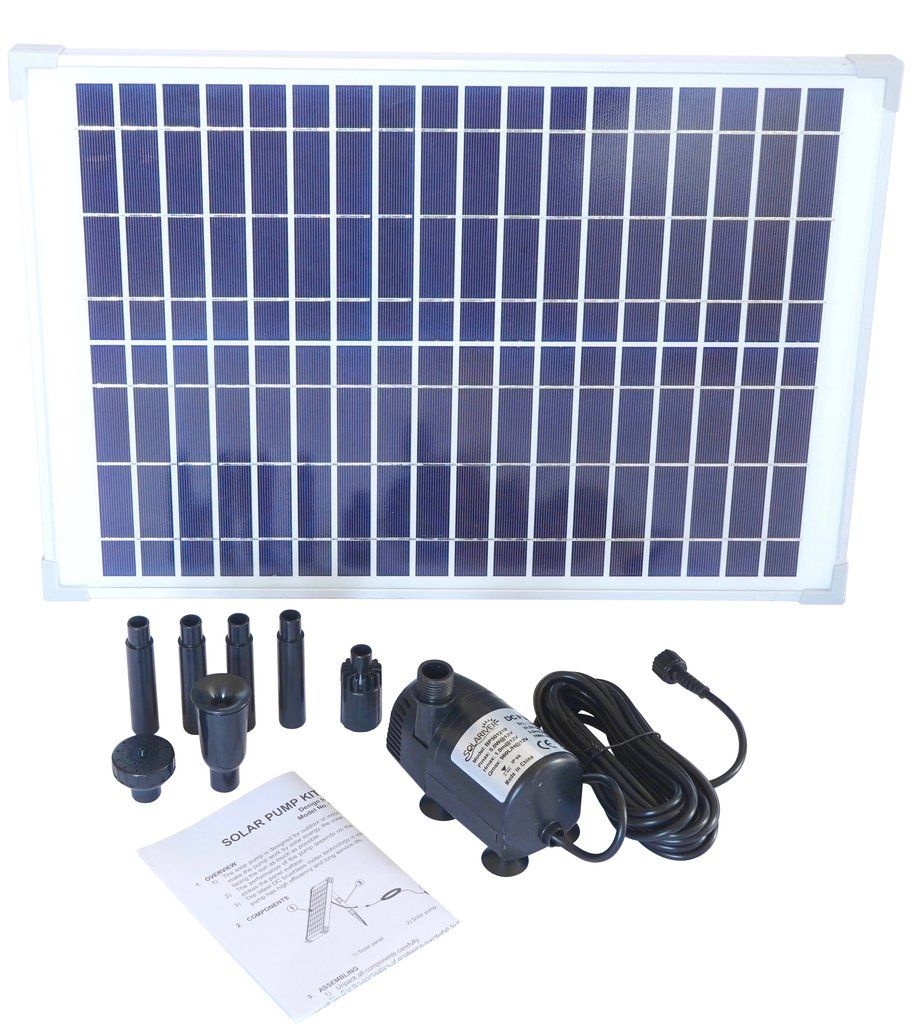 Solariver Solar Water Pump Kit 360 Gph With 12v Brushless Submersible Water Pump And 20 Watt Solar Panel Solar Fountain Solar Water Pump Solar Pond