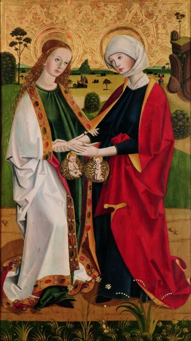 Maria Heimsuchung A 15th century painting of Mary visiting her cousin  Elisabeth. It was painted for the church of Kre… | Art chrétien, Vierge  marie, Art byzantin