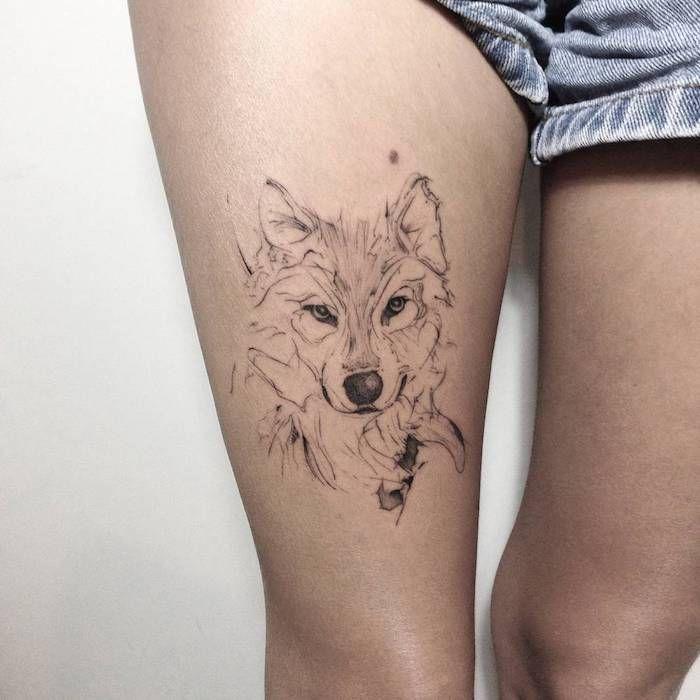 ▷ 1001 + modèles de tatouage loup pour femmes et hommes #tattoosandbodyart