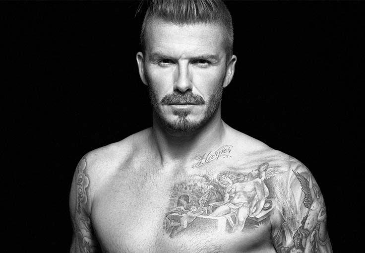 caac60e7f Chest Tattoo David Beckham   ❌ People ❌   David beckham, David ...