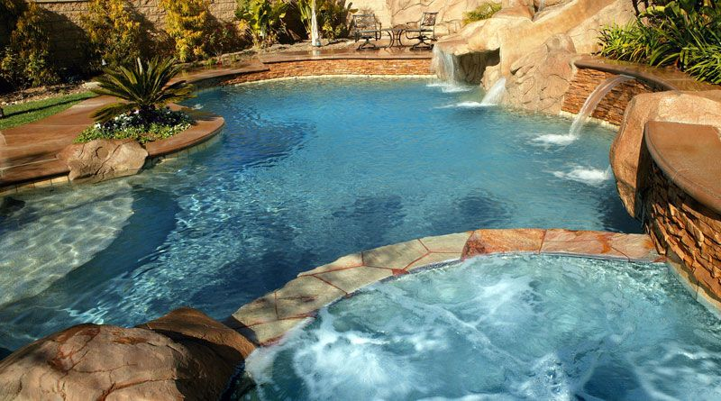 Pool coping ideas swimming pool coping pool with spa and for In ground pool coping ideas