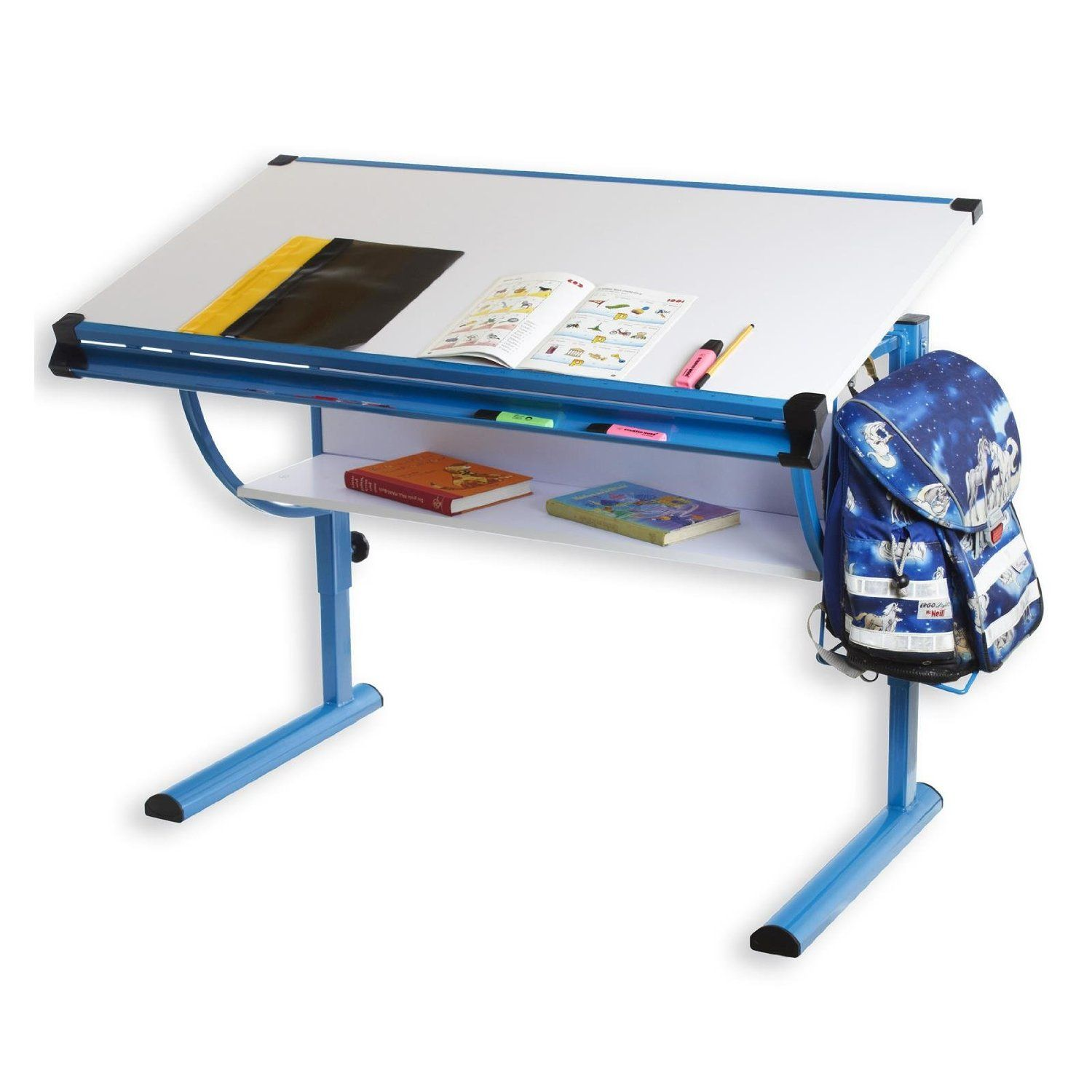 Kinderschreibtisch Blue Höhenverstellbar Und Neigungsverstellbar Amazon De Küche Haushalt New Homes Drafting Desk Home