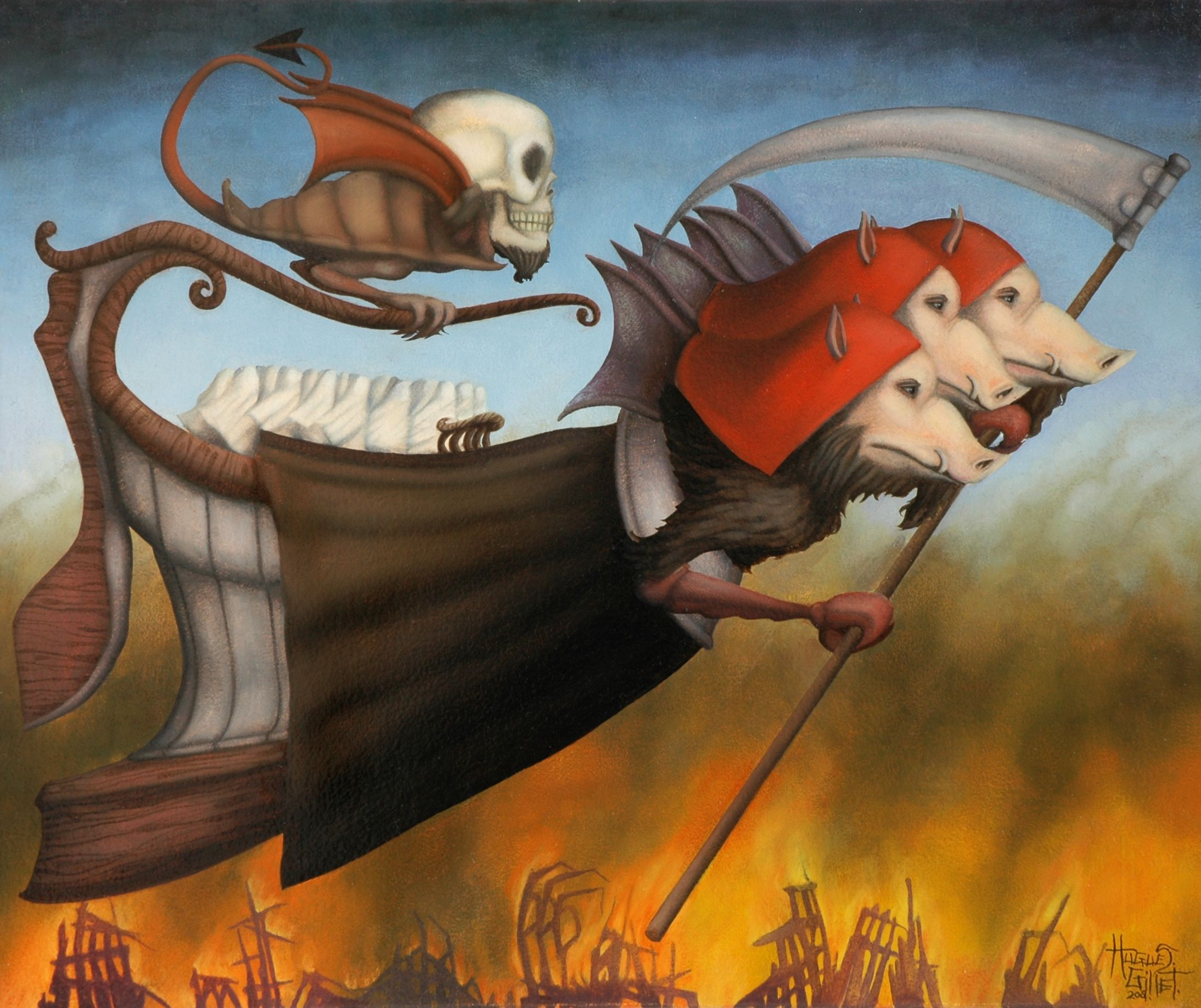 Armageddon HUGUES GILLET painting
