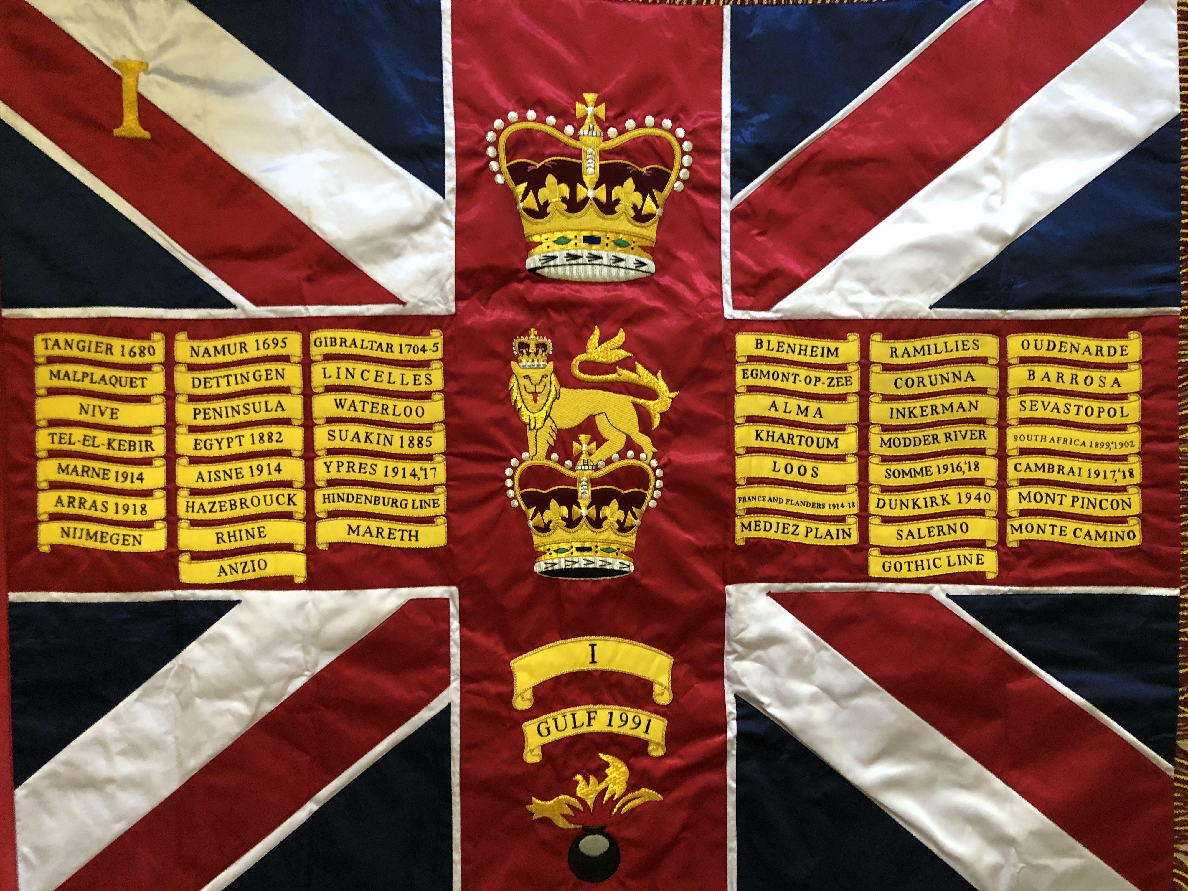 Grenadier Guards No 3 company colours standard flag