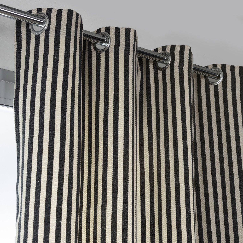 Leroy Merlin Teinture Textile rideau obscurcissant, marina blanc/anthracite l.140 x h.250