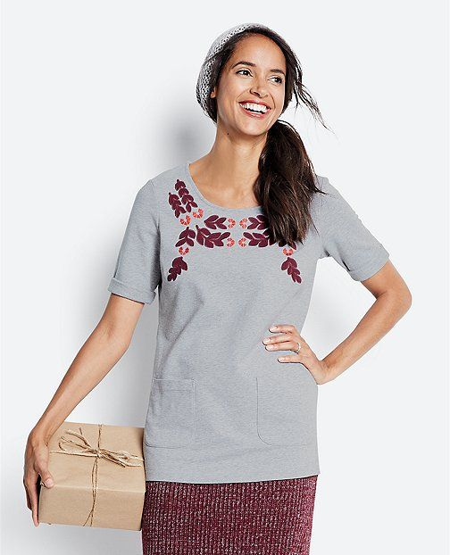 Swedish Garland Tunic In French Terry | Womens Sale Tops