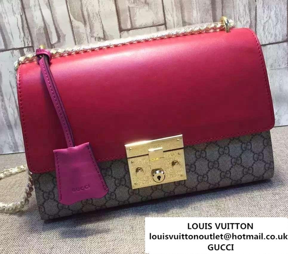 fad9dd4a7cb Gucci Padlock GG Supreme Shoulder Bag 409486 Red 2015 2016