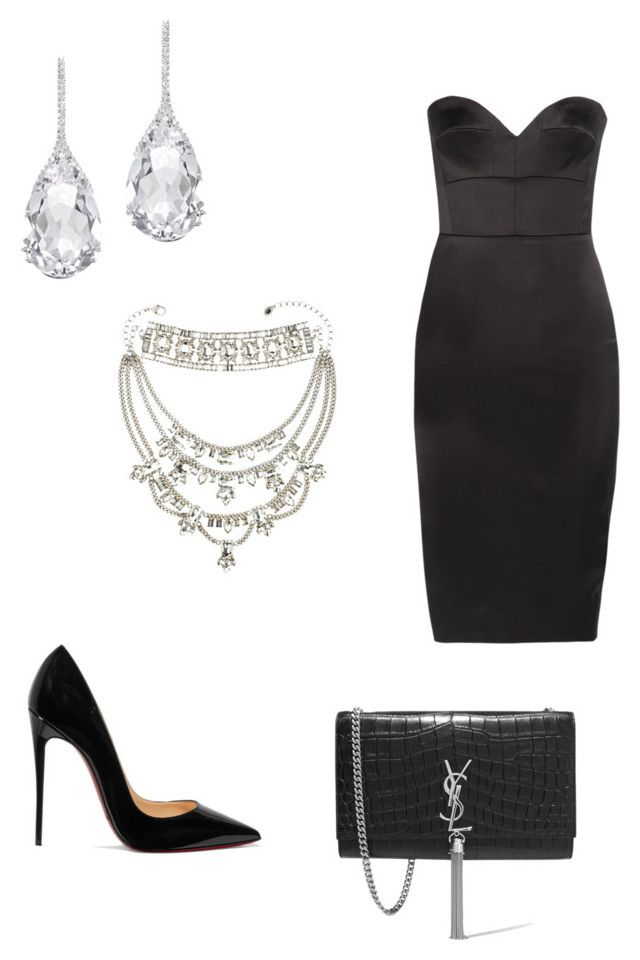 """""""Date night #4"""" by jaydahrich ❤ liked on Polyvore featuring Victoria Beckham, Christian Louboutin, Plukka, Juicy Couture and Yves Saint Laurent"""
