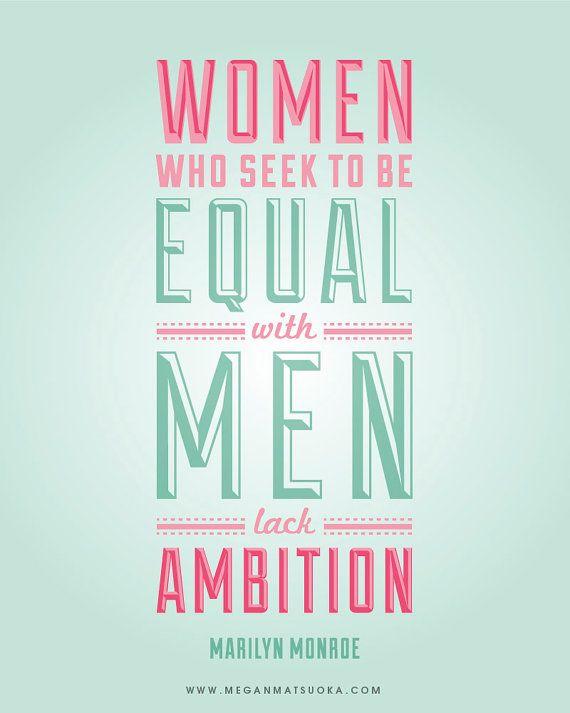 AMBITION Marilyn Monroe Quote Inspirational by MeganMatsuoka
