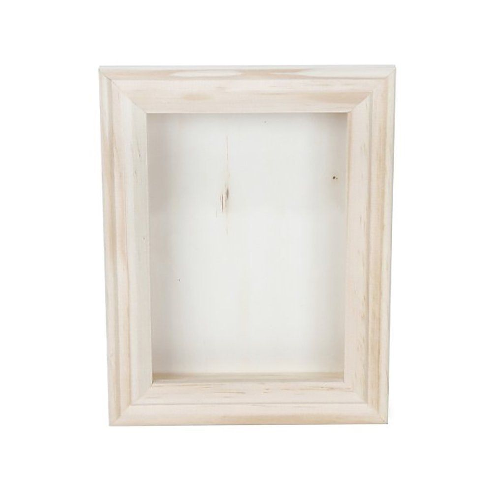 Darice Natural Wood Shadow Box Frame, 5-Inch | Shadow Box Picture ...