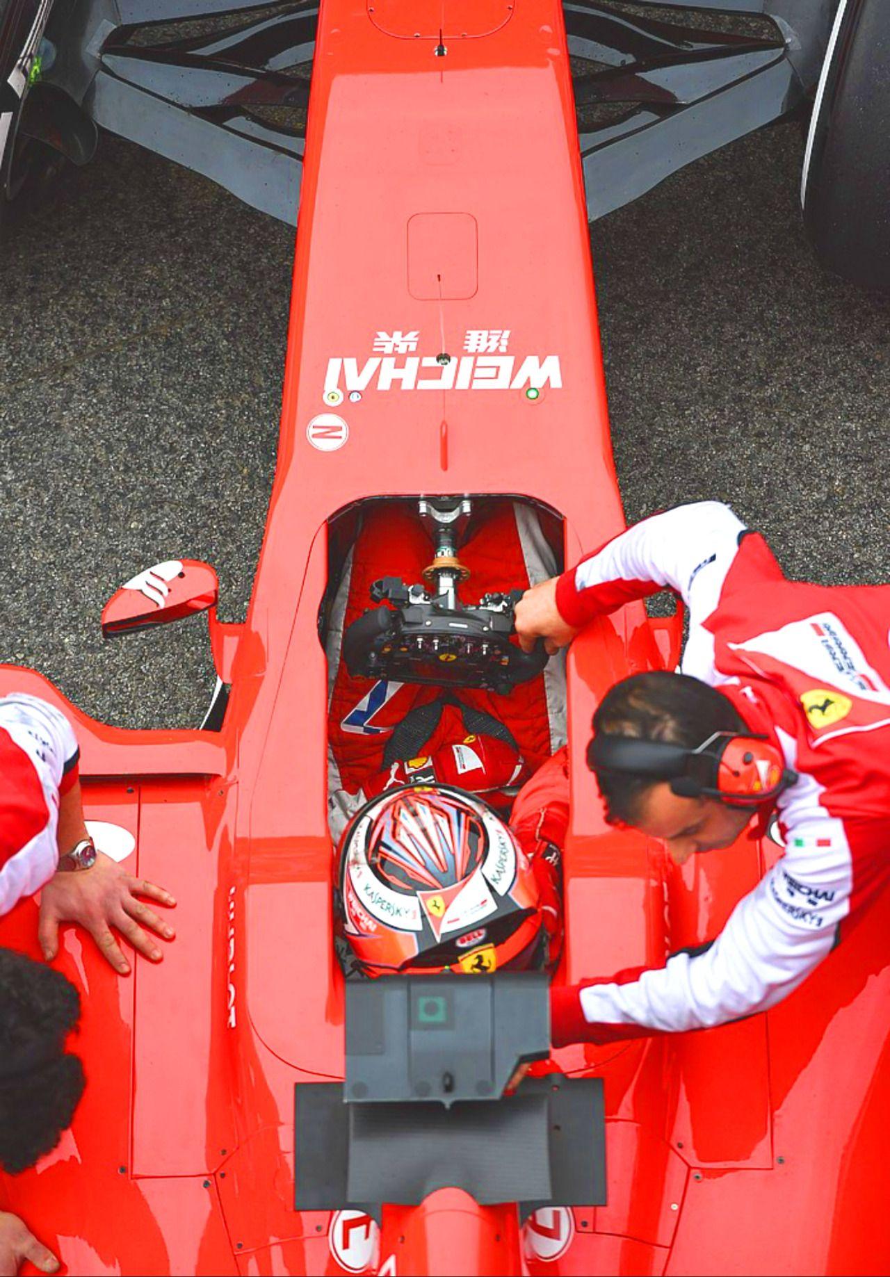 Kimi Räikkönen winter testing in Barcelona, Spain, Test