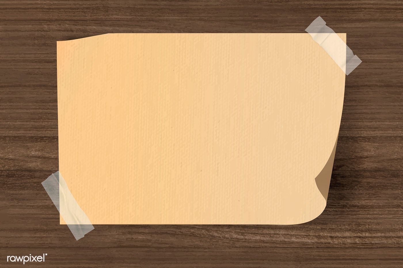 Vintage Brown Note Paper Taped On Wooden Background Vector Free Image By Rawpixel Com Kappy Kappy Vector Free Design Mockup Free Brown Note