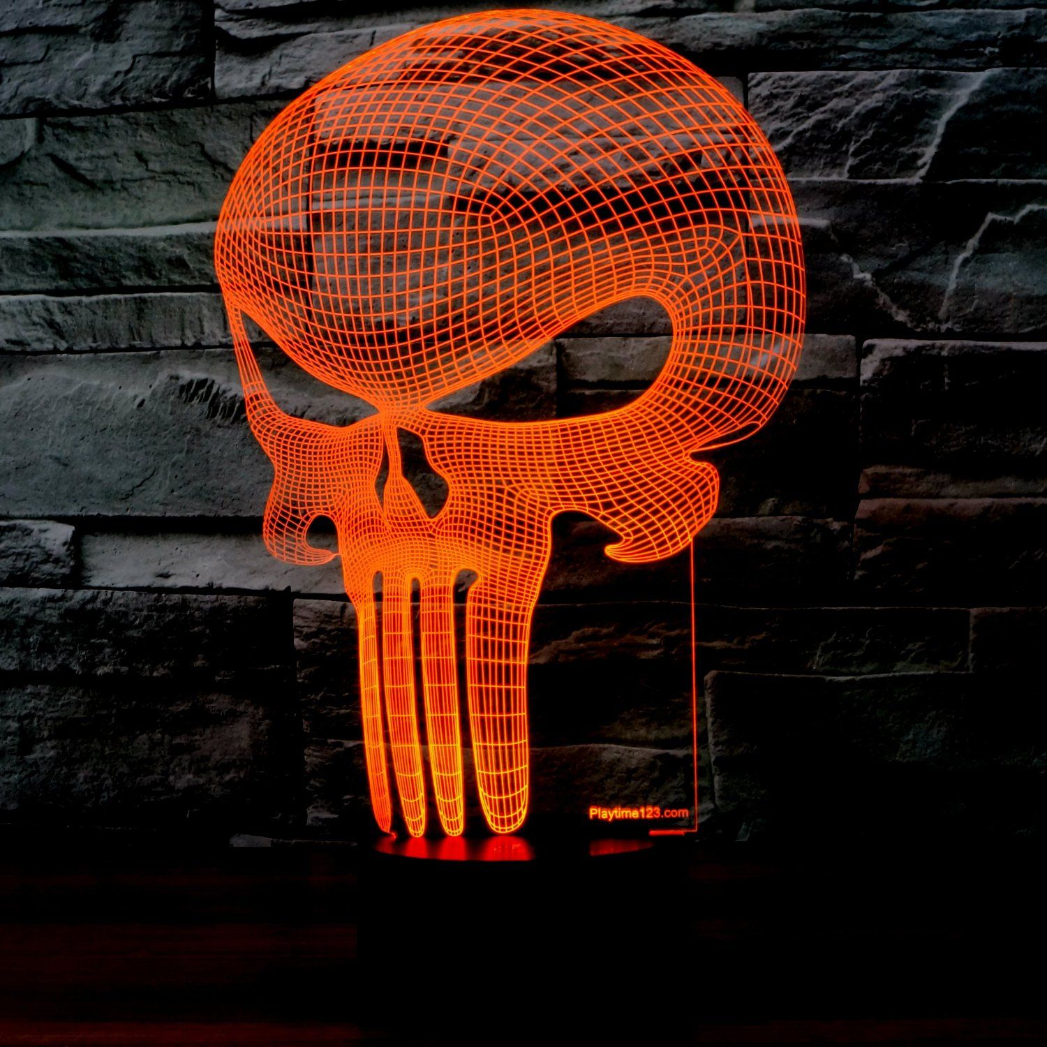 3D Punisher Skull Lighting By Playtime 123 Is A Great