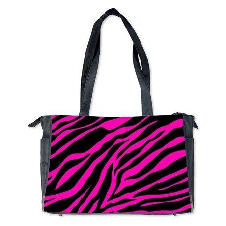 pink zebra Diaper Bag